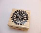 Lace Doily Circle Rubber Stamp