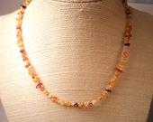 Amber Necklace Kauai Kahelelani Shell Lei- Seashell Jewelry Rare Tiny Pink Amber Necklace- Matching Set Available