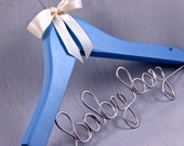Personalized Baby Hanger, Baby Shower Gift, Name Hanger, Birthday Gift, Christening Gift, Multiple Colors Availbale