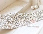 Stunning Crystal For Bridal Sash Rhinestone Bridal Beaded Crystal Rhinestone Applique