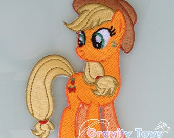 My Little Pony: Friendship is Magic APPLEJACK Iron on Embroidery Patch Applique MLPFIM MLP