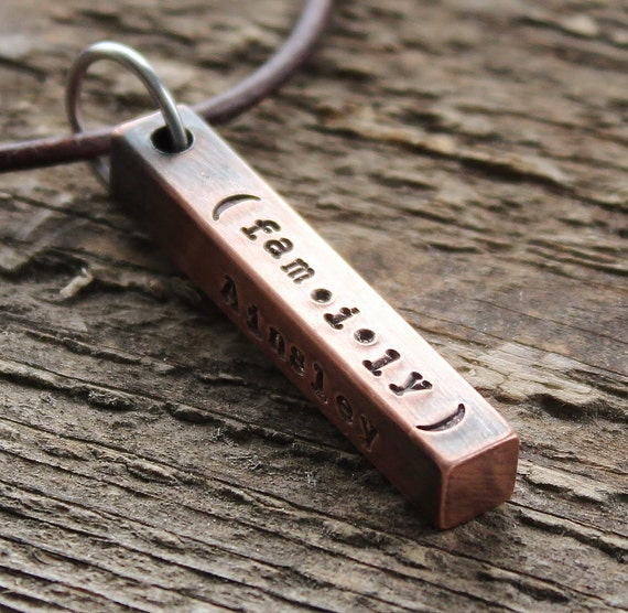mens personalized necklace s gift mans