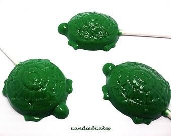 12 OPAQUE TURTLE LOLLIPOPS - Hard Candy Lollipops