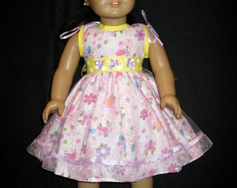 """American Doll dress, hat and jacket set - fits 18"""" doll - new handmade"""
