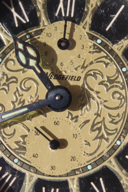 Brass Wedgefield Double Bell Alarm Clock