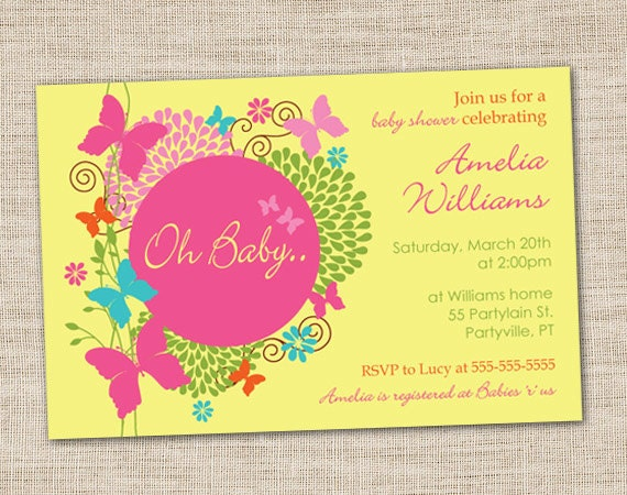 Butterfly Party Invites with nice invitations example