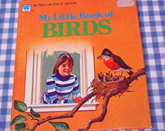 my little book of birds, vintage 1973 children's book