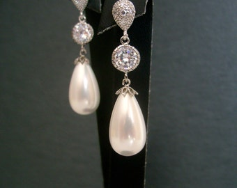 Vintage inspired 925 sterling silver naturel shell drop pearl post earrings wedding jewelry bridal earrings women's accessory