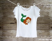 Mermaid T-Shirt with Sparkle Tail - Sew Jewell