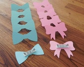 Party Pins: Gender Reveal Baby Shower - Die Cut Pink Girl Bows & Blue Boy Bow Ties wedding engagement vote party