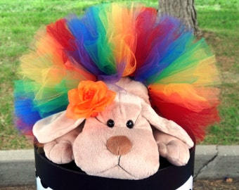 Dog Tutu:  RAINBOW   (Red, Orange, Yellow, Green, Blue, Purple) Doggie Tutu