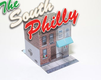The South Philly -  papercraft toy houses