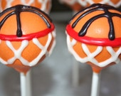 Basket Ball Cake Pops