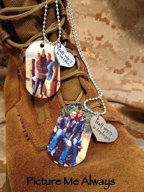 His And Hers Deployment Dog Tag Set