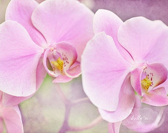Pink Orchids Photography- Dreamy Soft Orchid Print, Pink Purple Pastel Decor, Flower Photography, Orchid Photography, Pink Orchid Wall Art