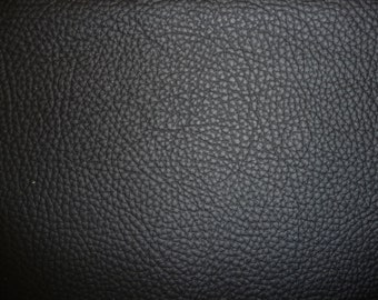 """Leather CLOSEOUT 12""""x12"""" Matte Black Buffalo embossed Cowhide 3.5 oz / 1.4 mm PeggySueAlso"""