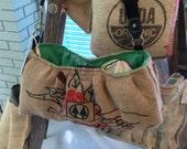 Burlap purse medium Peru