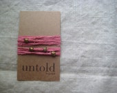 SALE / Dusty Rose Cotton Wrist Wrap