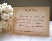 Wish Tree Instruction Sign - Vintage Wedding Couple