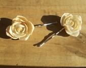 Seashell Flower Hair Pins
