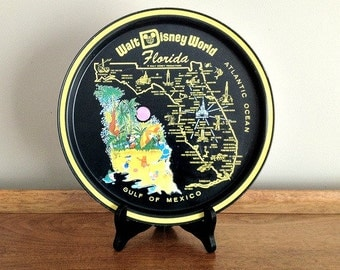 Vintage Walt Disney World Souvenir Metal Tray