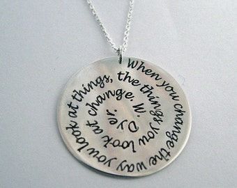 Personalized jewelry, personalized quote, custom necklace, charm,memorial jewelry, sterling silver