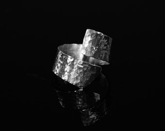 Hammered Wrap Sterling Ring