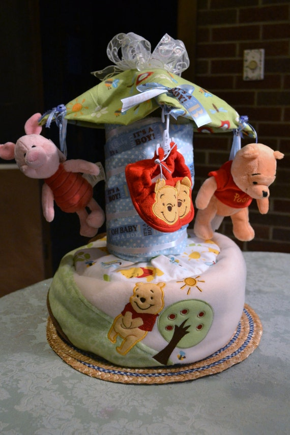 Items Similar To Custom Carousel Diaper Cake On Etsy