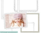 Shabby White Postcard Frames for Scrapbooking