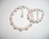 Light Pink Pearls and Crystal Mommy and Me Set