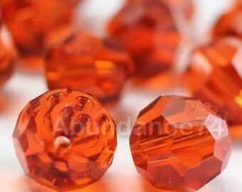 Swarovski Elements Crystal Beads 5000 Round Ball Beads INDIAN RED - Available in 5mm ,6mm and 8mm
