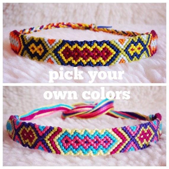 Items similar to Friendship Bracelet MADE TO ORDER Braided