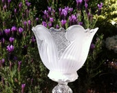 Crystal Candle Holder, Candle Sconce, Recycled,Candle Stand, Glass Country Home Decor
