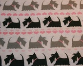 Baby Girl's: XL Swaddle Blanket - Pink, Black, Grey Scotties