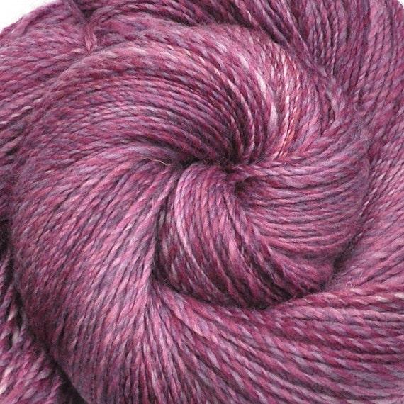 Handspun yarn - RASPBERRY ROSE - Handpainted Corriedale wool, DK weight. 730 yds.