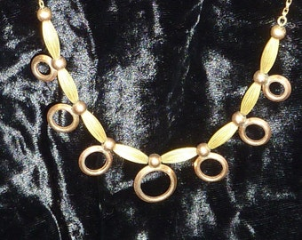 Vintage 12K Gold Fill Necklace Art Deco