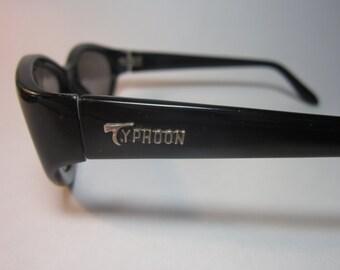 Vintage Sunglasses Typhoon Black cats eye glasses