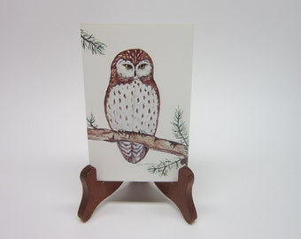 Owl Greeting Card by Joyce Orchard Cameo Greeting Cards