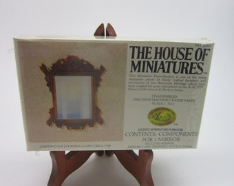 Vintage House of Miniatures Chippendale Looking Glass Circa 1750 no 42403