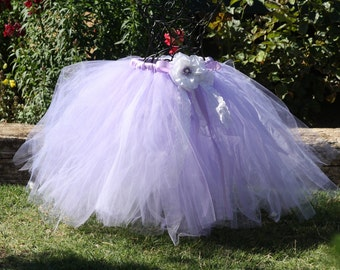Sophia's tea party lace lavender and white tulle tutu for weddings,flower girls,birthdays, Sophia the first theme