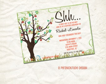 spring apple tree baby shower invitation print yourself file