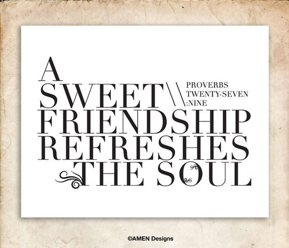 Bible Verses About Friendship English : Diy printable christian poster in sweet by