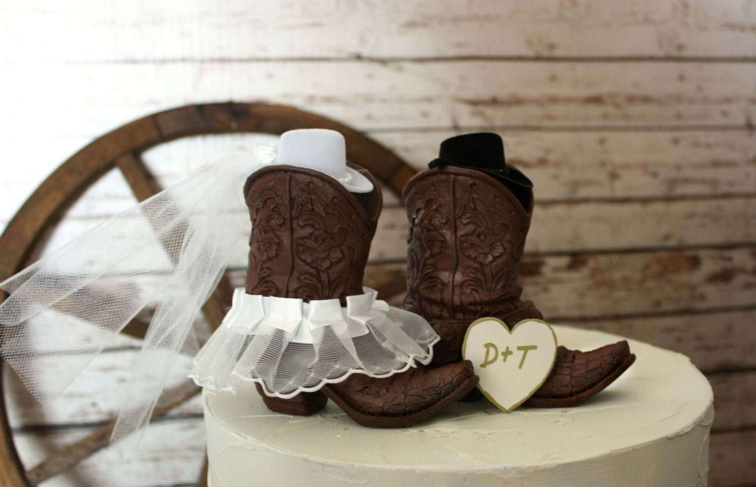 country wedding cake toppers cowboy boots wedding cake topper rustic by morganthecreator 13004