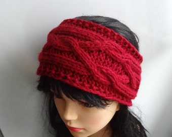 Handmade Knitt Cable Headband Plait / Knitted Headband / Hand knit headband, head wrap, ear warmer  , wide headban womens headband #5