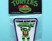 Original 1990's Teenage Mutant Hero Turtles Iron on Patch