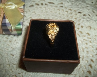 Vintage Golden Nugget Ring