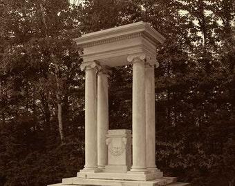 Augustus Saint-Gaudens Tomb, National Historic Site, Saint Gaudens Road, Cornish City, NH, Sepia Duotone Print