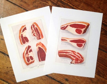 beef meat glorious cuisine food print - porterhouse chuck sirloin top round cuts