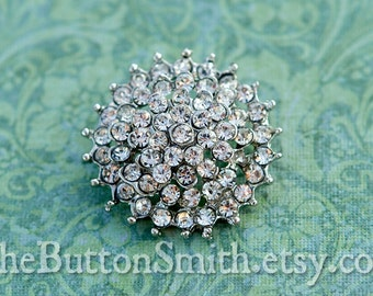 Rhinestone Buttons -Cambria- (26mm) RS-029 - 20 piece set