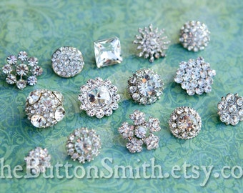 Rhinestone Buttons Mix - Petite Collection - 102- 30 piece set